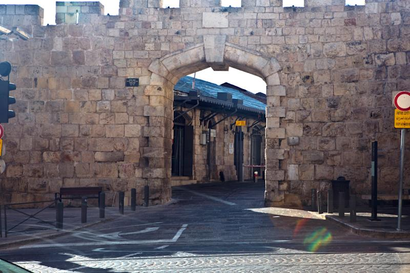 A picture taken with a long exposure shows New Gate in Jerusalem's Old City. (Photo: Nir Elias/Reuters)