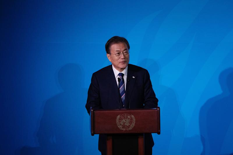 South Korea's Moon Sees Approval Rating Hit New Low Amid Scandal