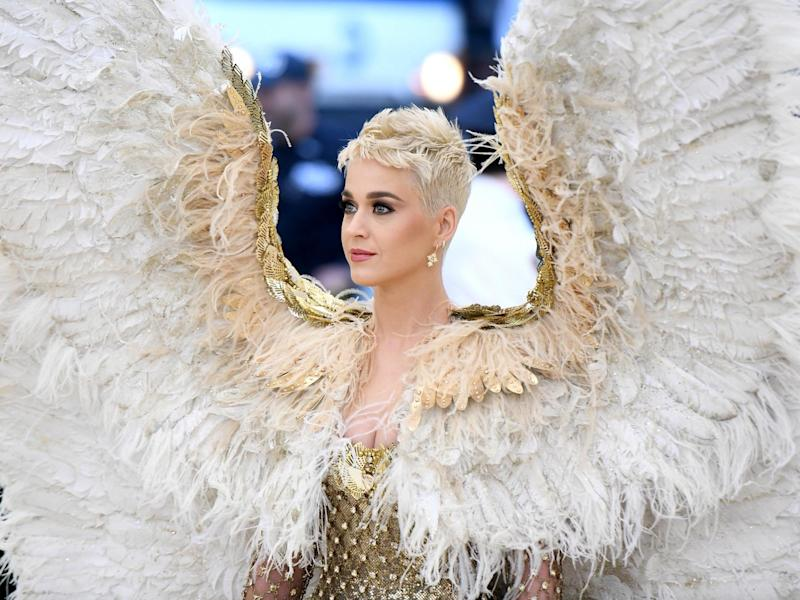 Katy Perry at the Met Gala in 2018: Getty Images