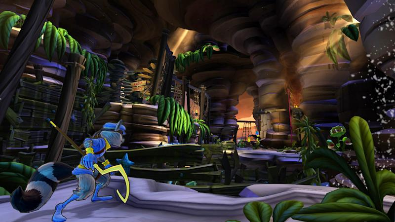 """This video game image released by Sony shows a scene from """"Sly Cooper: Thieves in Time."""" (AP Photo/Sony)"""