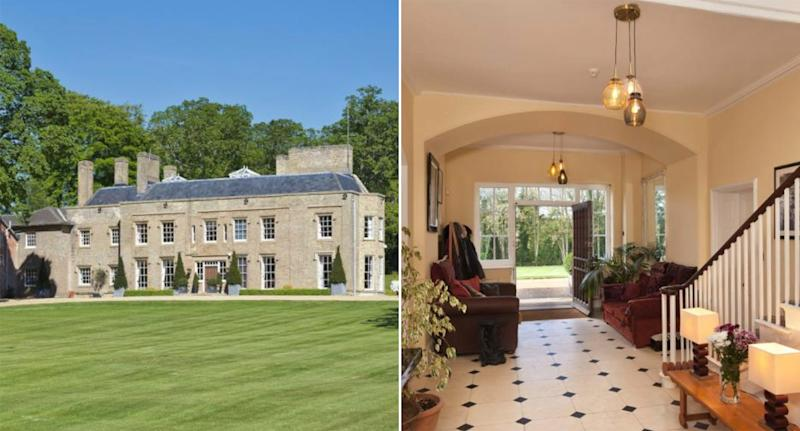 EuroMillions winner Adrian Bayford is selling his £6.5m mansion in Cambridgeshire (Rightmove)