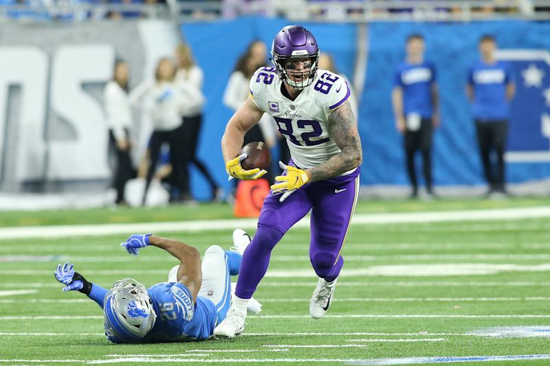 The Vikings reached a four-year deal with tight end Kyle Rudolph on Monday night ending weeks of uncertainty