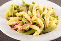 """<p>Garganelli can be served in a variety of recipes, but a traditional <a href=""""https://www.delish.com/uk/cooking/recipes/a30805576/beef-ragu-recipe/"""" rel=""""nofollow noopener"""" target=""""_blank"""" data-ylk=""""slk:beef ragù"""" class=""""link rapid-noclick-resp"""">beef ragù</a> always works well.</p>"""