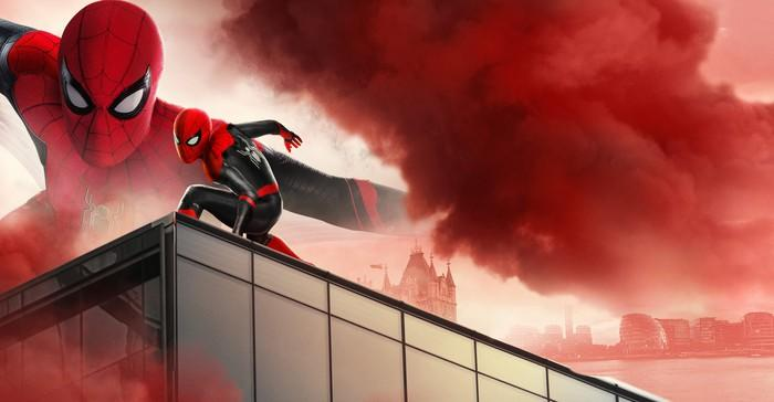 Spider-Man on a rooftop.