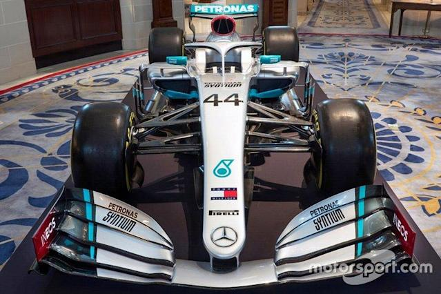 "Mercedes AMG F1 livery detail <span class=""copyright"">Mercedes AMG</span>"