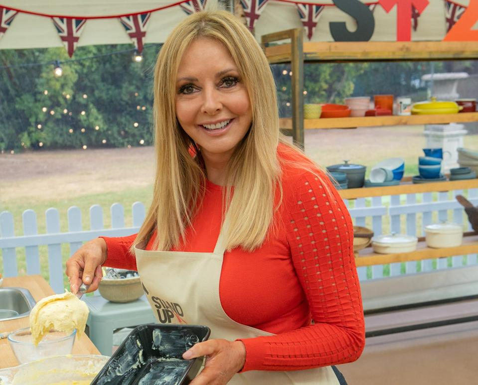 Carol Vorderman won the battle of the bubble baths on 'The Great Stand Up To Cancer Bake Off '. (Mark Bourdillon/Channel 4)