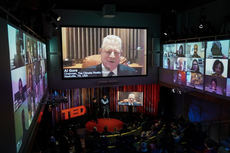 Al Gore speaking at the TED Countdown event on December 4, 2019, in New York City.