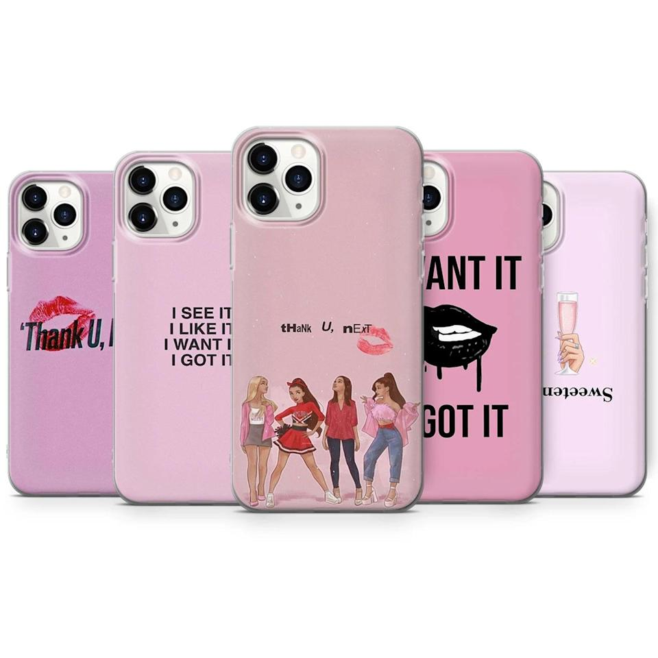 <p>Fans will love these <span>Ariana Grande iPhone Cases</span> ($16, originally $18). Choose their favorite song for a pretty in pink moment. </p>