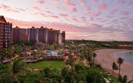 """<p>A rainbow-hued reef set in a calm saltwater lagoon. Storytelling by the fire pit. A teen spa complete with DIY body polish seminars. These are just some of the amenities that helped <a href=""""https://resorts.disney.go.com/aulani-hawaii-resort/"""" rel=""""nofollow noopener"""" target=""""_blank"""" data-ylk=""""slk:this Disney resort"""" class=""""link rapid-noclick-resp"""">this Disney resort</a> in Oahu earn, yet again, top marks from families. With spacious guest rooms and a range of kid-friendly activities (waterslides, tubing, hula lessons), plus dining options that range from beach shacks to fine restaurants, this resort is designed for memory-making vacations. (Photo: The Walt Disney Company)</p>"""