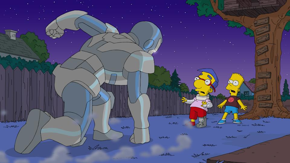 A still from The Simpsons S31. (Disney+)