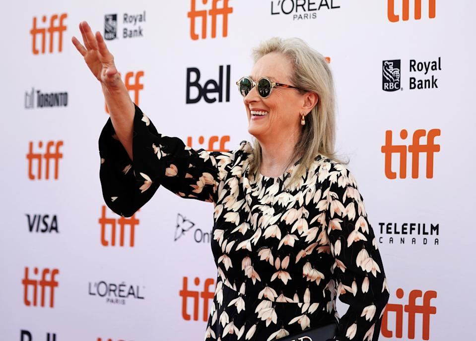 "Actor Meryl Streep waves as she arrives at the North American premiere of ""The Laundromat"" at the Toronto International Film Festival (TIFF) in Toronto, Ontario, Canada September 9, 2019.  REUTERS/Mark Blinch"