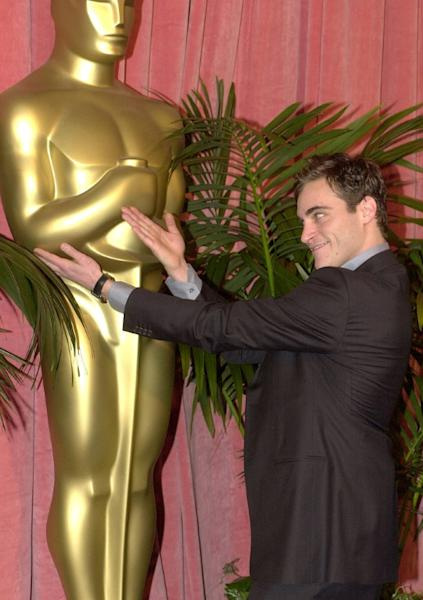 "Joaquin Phoenix earned his first Oscar nomination in 2001 for best supporting actor in ""Gladiator"""