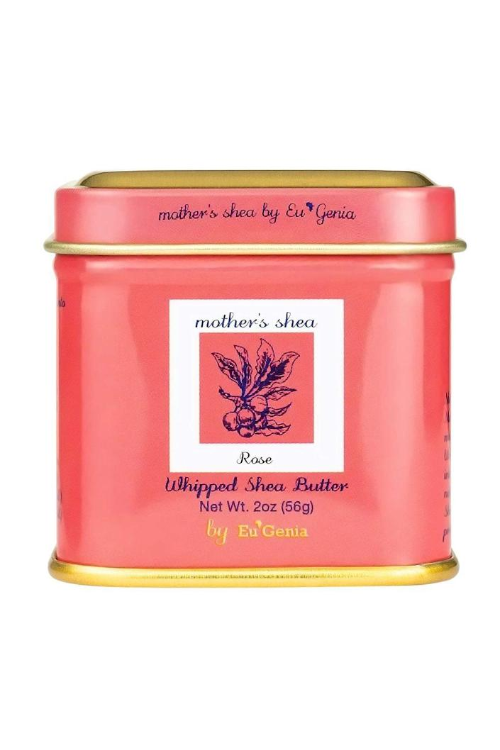 """<p><strong>Mother's Shea by Eu'Genia</strong></p><p>amazon.com</p><p><strong>$19.99</strong></p><p><a href=""""https://www.amazon.com/dp/B08FSSSKRT?tag=syn-yahoo-20&ascsubtag=%5Bartid%7C10049.g.36149947%5Bsrc%7Cyahoo-us"""" rel=""""nofollow noopener"""" target=""""_blank"""" data-ylk=""""slk:Shop Now"""" class=""""link rapid-noclick-resp"""">Shop Now</a></p><p>If you're looking for just a little something to give someone for a special occasion, these shea butter tins make the best gifts for anyone on your list.</p>"""