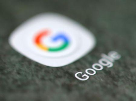 The Google app logo is seen on a smartphone in this illustration