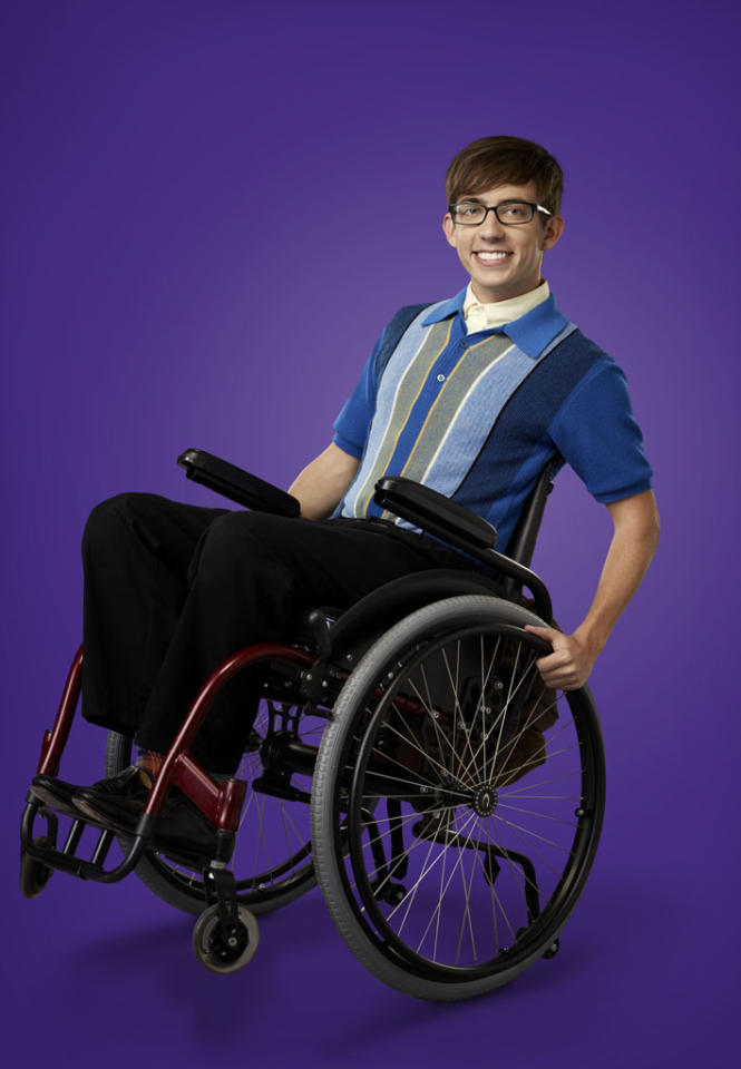 "Kevin McHale as Artie in ""Glee."""