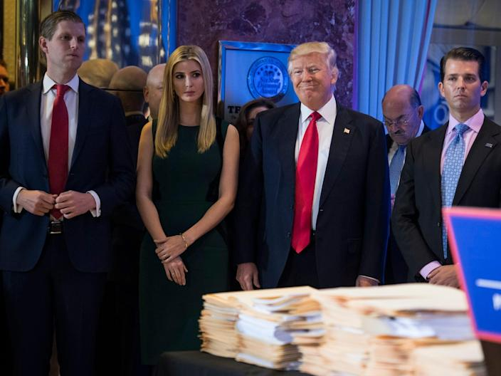 A Palm Beach mansion owned by the Trump family just hit the market for $ 49 million, and it's right across from Mar-a-Lago
