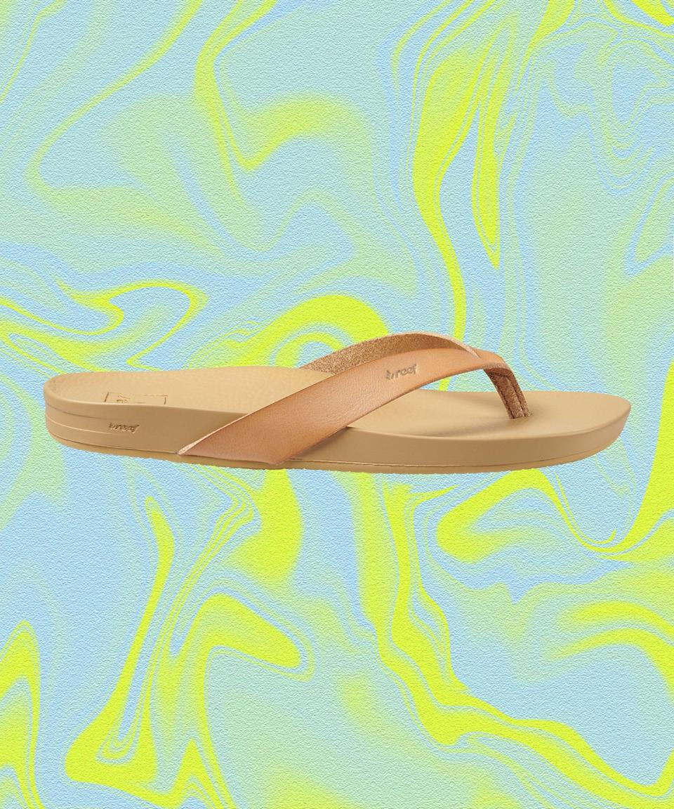 """<strong>How we'd wear it: </strong>Head-to-toe white linen, of course. <br><br><strong>Where we'd wear it: </strong>Primo arch support means we're hitting three block parties — at the very least.<br><br><strong>Reef</strong> Cushion Court, $, available at <a href=""""https://go.skimresources.com/?id=30283X879131&url=https%3A%2F%2Fwww.reef.com%2Fcushion-court%2FRF0A3FDS.html%3Fdwvar_RF0A3FDS_color%3DCOPPER%26cgid%3Droot%23q%3Dcushion%252Bcourt%26lang%3Ddefault%26cgid%3Droot%26start%3D1"""" rel=""""nofollow noopener"""" target=""""_blank"""" data-ylk=""""slk:Reef"""" class=""""link rapid-noclick-resp"""">Reef</a>"""