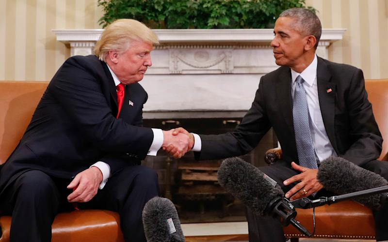 President Barack Obama and President-elect Donald Trump shake hands - Copyright 2016 The Associated Press. All rights reserved.