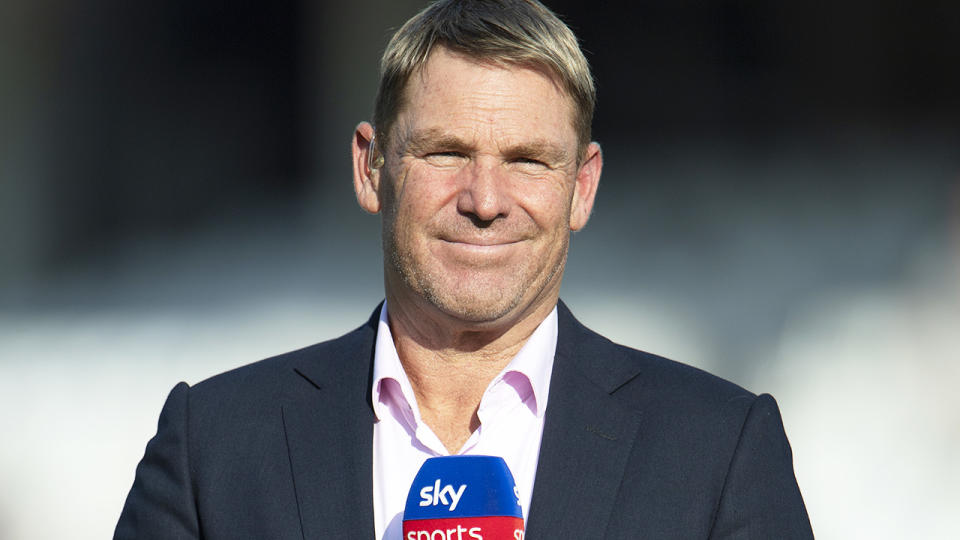 Shane Warne, pictured here during the fourth Test between England and India at The Oval.