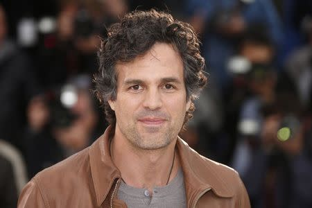 """File photo of Cast member Mark Ruffalo poses during a photocall for the film """"Foxcatcher"""" in competition at the 67th Cannes Film Festival in Cannes"""