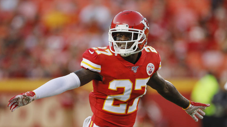 Rashad Fenton is one of the Chiefs' thin options to hold down the second cornerback slot after Bashaud Breeland was suspended to open the season. (Colin E. Braley/AP)