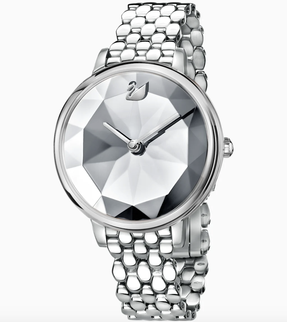 PHOTO: Swarovski. Crystal Lake Watch, Metal Bracelet, White, Stainless Steel