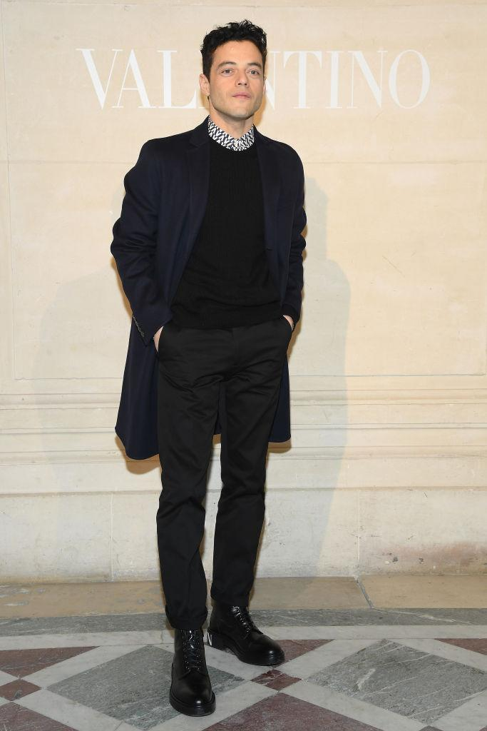 Rami Malek attends the Valentino Haute Couture Spring Summer 2019 show as part of Paris Fashion Week on January 23, 2019 in Paris, France. (Photo by Pascal Le Segretain/Getty Images)