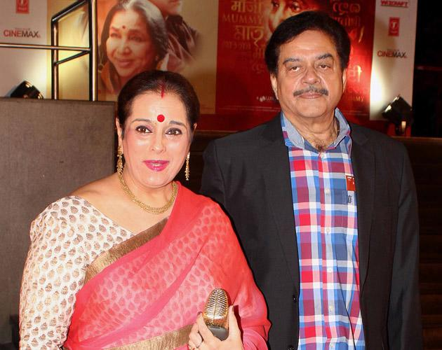 Shatrughan Sinha with his wife