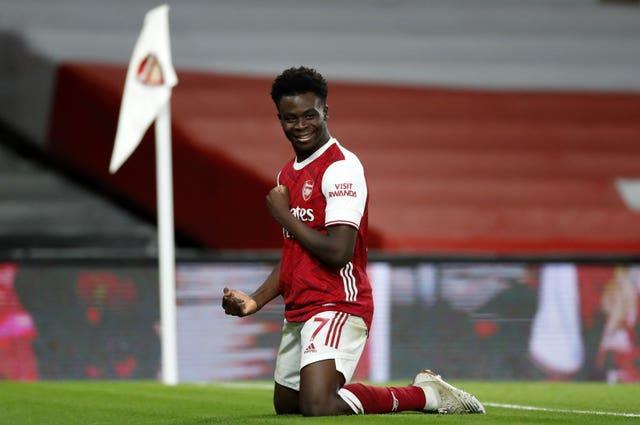 Bukayo Saka is one of Arsenal's young players who has been performing well of late.