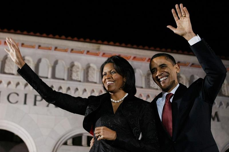 Michelle and Barack Obama at the Democratic National Convention in 2004. (AFP/Getty Images)