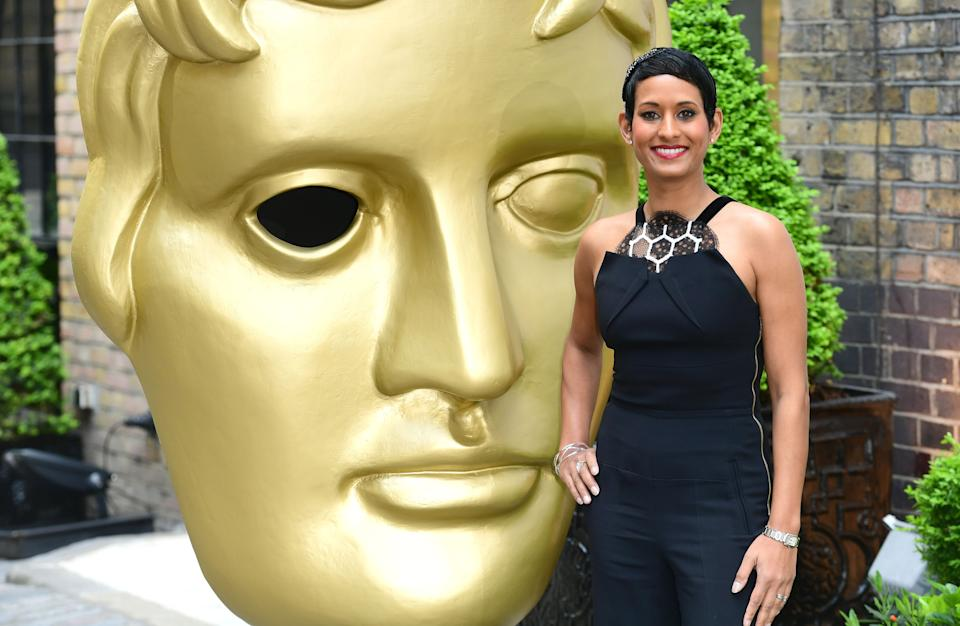 Naga Munchetty attending the BAFTA Craft Awards at the Brewery in London. (Photo by Ian West/PA Images via Getty Images)