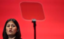 Lisa Nandy Britain's Shadow Secretary of State for the Energy speaks during the opposition Labour Party's annual conference in Brighton, southern Britain