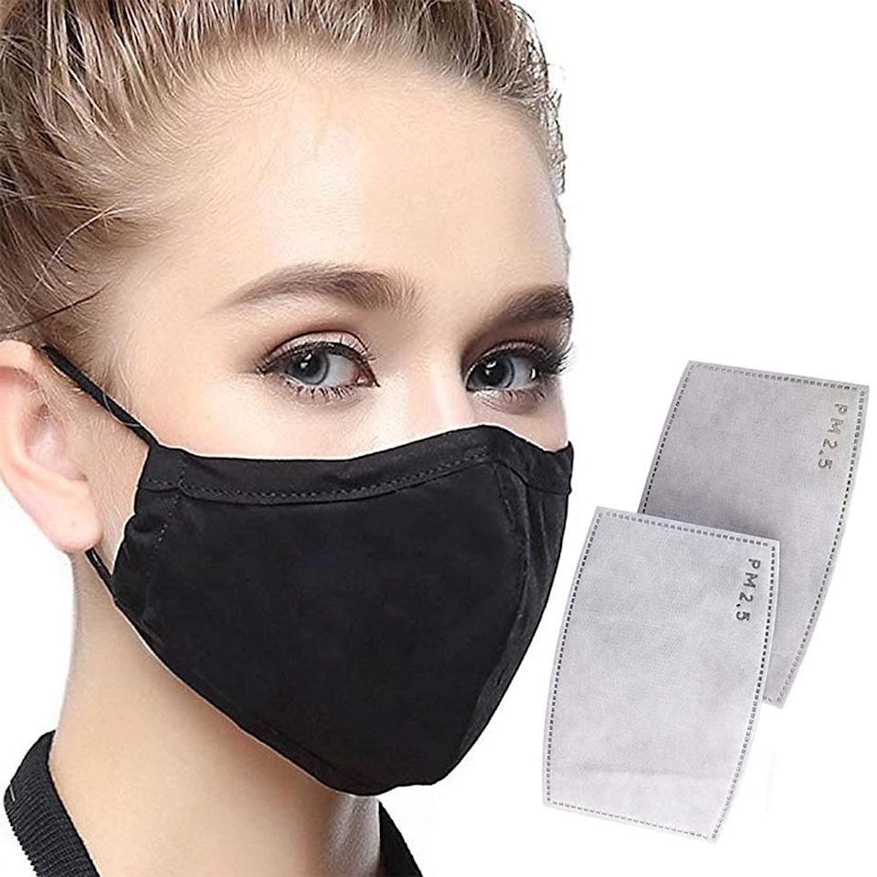 <p>These black <span>Protective Face Masks </span> ($11) are easy to wear.</p>