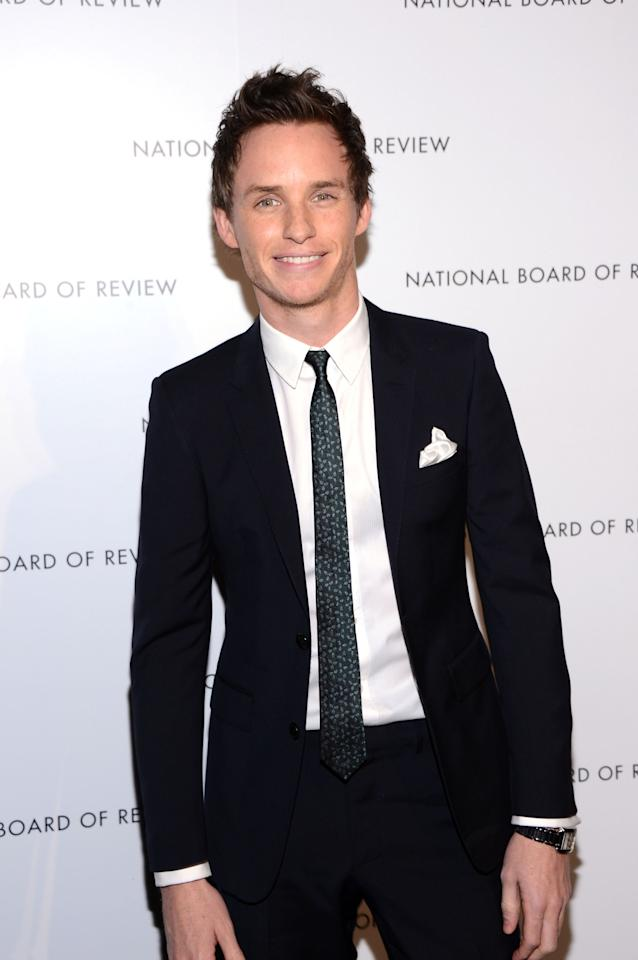NEW YORK, NY - JANUARY 08:  Actor Eddie Redmayne attends the 2013 National Board Of Review Awards at Cipriani 42nd Street on January 8, 2013 in New York City.  (Photo by Stephen Lovekin/Getty Images)