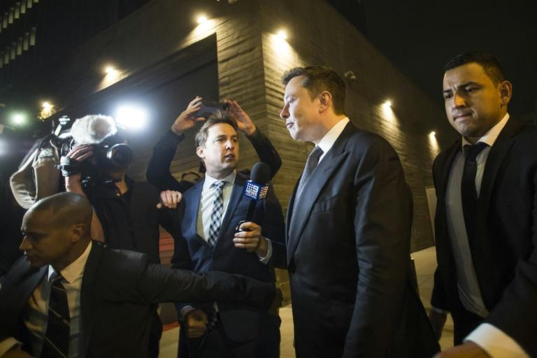 Elon Musk leaves court in Los Angeles during a defamation trial over him calling a British rescue diver 'Pedo Guy' (AFP Photo/Apu Gomes)