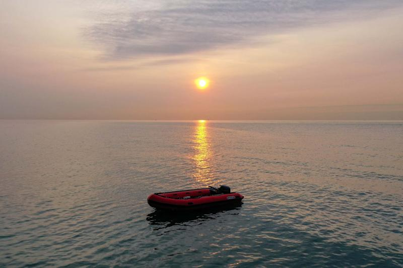 An empty migrant boat in Dover: Getty Images