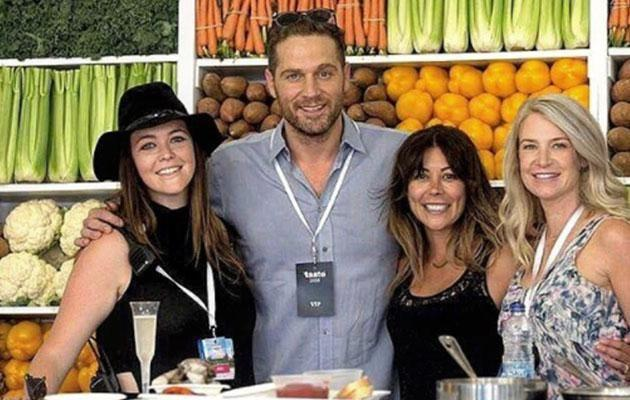 Cory, seen here surrounded by female fans, is a popular celebrity chef in Canada. Photo: Instagram