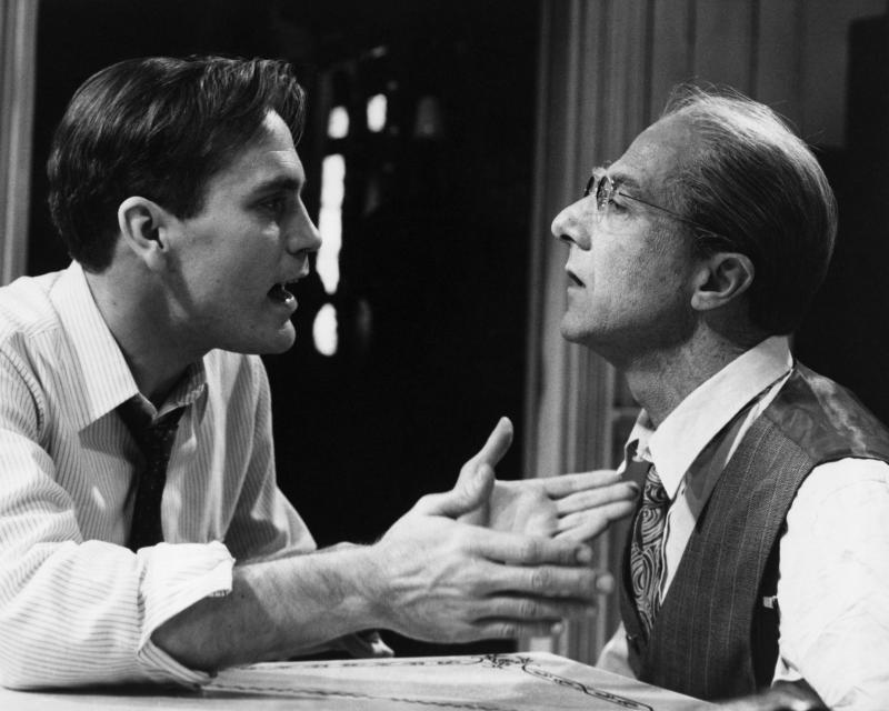 "John Malkovich and Dustin Hoffman in the 1985 television movie ""Death of a Salesman."" (Bettmann via Getty Images)"