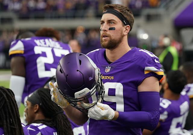 Adam Thielen has played his entire football career in Minnesota. For the next four years, that won't be changing. (Photo by Nick Wosika/Icon Sportswire via Getty Images)