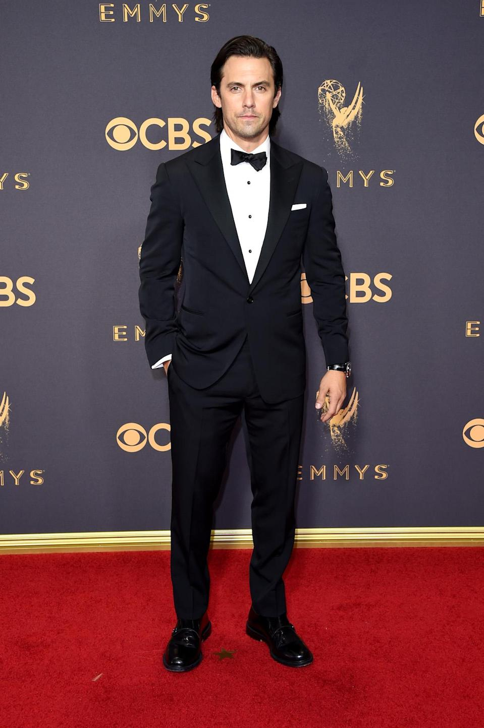 <p>Milo Ventimiglia attends the 69th Annual Primetime Emmy Awards on September 17, 2017.<br> (Photo: Getty Images) </p>