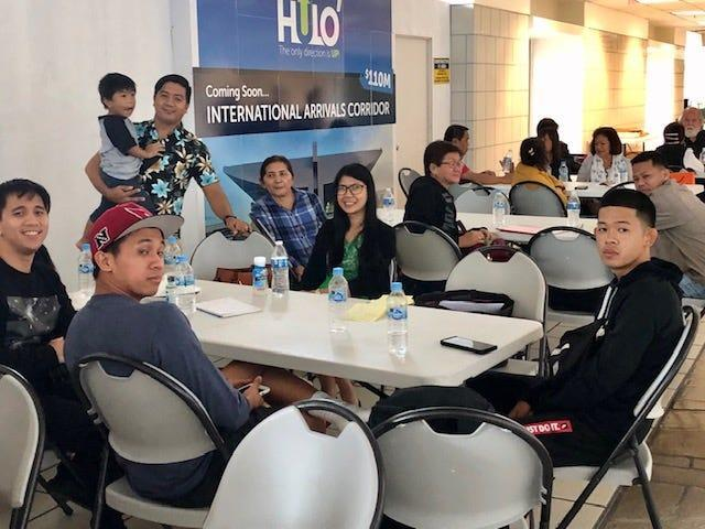 Passengers originating from Colorado, California, Saipan and other places are stranded at the A.B. Won Pat International Airport Guam since Sunday night because their connecting flight to Manila were cancelled as a result of a volcanic eruption in the Philippines that shut down the international airport in Manila.