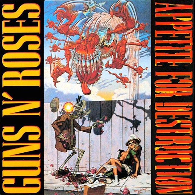 The original <em>Appetite for Destruction</em> cover.