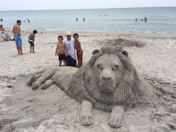 "<p>Sand sculptor Lee Stoops created this 10-foot long lion with his grandsons on Delray Beach, Florida. ""We were just trying to reflect on what happened so it doesn't happen again,"" the <a href=""http://www.palmbeachpost.com/news/news/local-artist-sculpts-cecil-the-lion-dedication-fro/nm9z5/"" rel=""nofollow noopener"" target=""_blank"" data-ylk=""slk:artist told the Palm Beach Post"" class=""link rapid-noclick-resp"">artist told the Palm Beach Post</a>. (Credit: <a href=""http://www.palmbeachpost.com/news/news/local-artist-sculpts-cecil-the-lion-dedication-fro/nm9z5/"" rel=""nofollow noopener"" target=""_blank"" data-ylk=""slk:The Palm Beach Post"" class=""link rapid-noclick-resp"">The Palm Beach Post</a>)</p>"