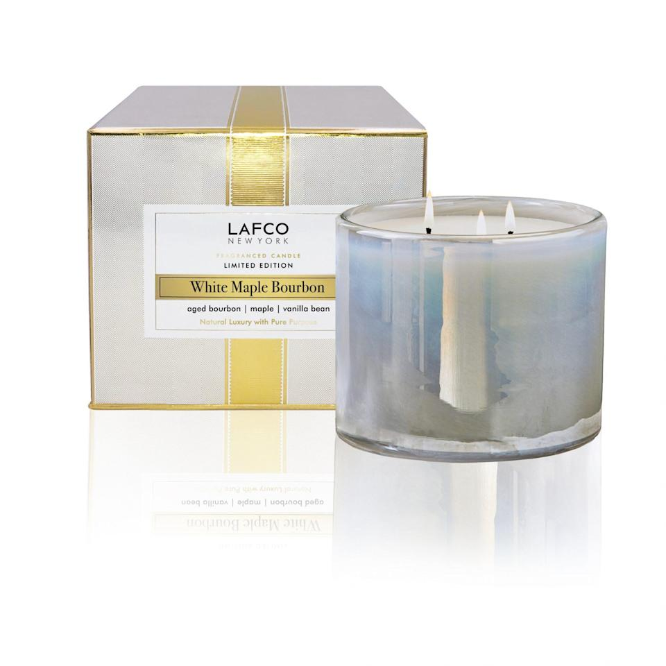 """<p>So many holiday candles are a letdown -- they seem pretty in the store just to lose their magic once they're home. </p> <p>We can NOT have that happen in 2020! We have been through enough.</p> <p>So we tested and searched and found LAFCO's White Maple Bourbon candle, which does not disappoint. It's not a traditional holiday scent (so you can use it all year), but its festive aroma fills the room. </p> <p><a href=""""https://www.lafco.com/white-maple-bourbon-signature-155oz-candle.html"""" rel=""""nofollow noopener"""" target=""""_blank"""" data-ylk=""""slk:LAFCO New York White Maple Bourbon Candle, $65"""" class=""""link rapid-noclick-resp"""">LAFCO New York White Maple Bourbon Candle, $65</a></p>"""