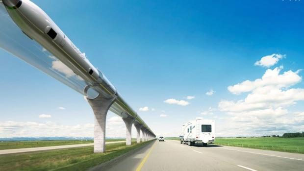 Canadian hyperloop company TransPod says it expects to have private funding secured for the first portion of an ultra-high-speed transportation line between Calgary and Edmonton by the end of the year. ( Radio-Canada/TransPod Hyperloop - image credit)