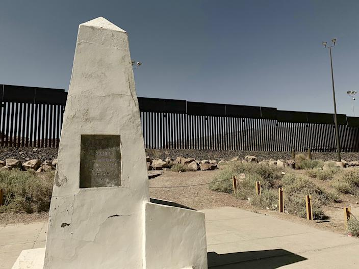 A view of Monument One, which was built following the Mexican-American War to establish the start of the land barrier between the U.S. and Mexico. (Photo: Caitlin Dickson/Yahoo News)
