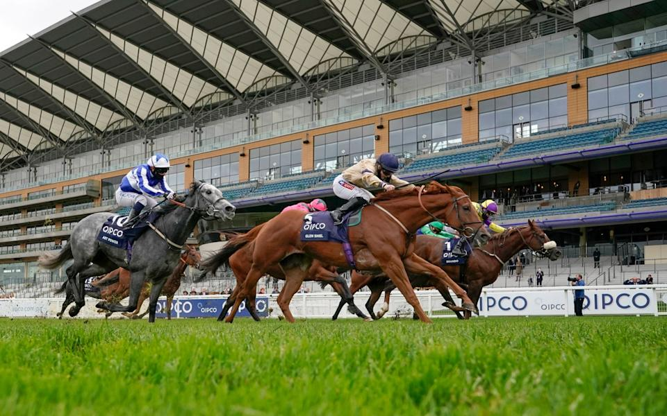 Doyle pictured winning the British Champions Sprint Stakes at Ascot on board Glen Shiel on what was a successful day for the duo - PA