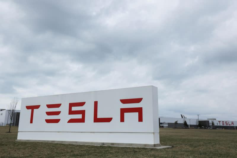 Tesla shares surge to record high, leaving rivals behind