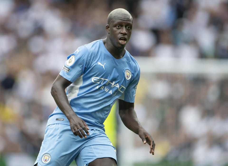 Pictured here, Benjamin Mendy playing for Manchester City against Tottenham in the English Premier League.
