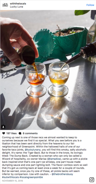 A shot of whiskey...and a shot of dumpling sauce?